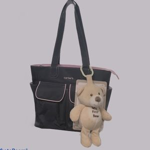CARTERS DIAPER BAG / TOTE WITH MY FIRST BEAR NWOT